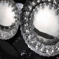Magnificent Antique Set of Three Solid Sterling Silver Comport / Tazza Suites with Fine Chased Engravings - Martin Hall & Co 1890 (7 of 24)