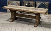 Superb Very Rustic French Oak Bleached Oak Farmhouse Dining Table (3 of 32)