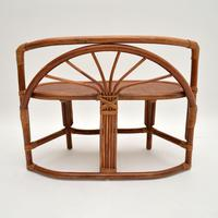 Vintage 1970's Bamboo & Rattan Games Table & Chairs (12 of 12)
