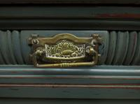 Antique Painted Bohemian Blue Edwardian Sideboard (3 of 22)