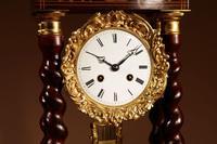 Original Antique Inlaid French Portico Clock c.1870 (4 of 8)