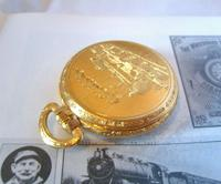 Vintage Pocket Watch 1970s Railroad 12ct Gold Plated West Germany Nos (8 of 11)