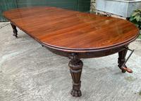 Impressive Victorian Mahogany Extending Dining Table - Seats 12 (16 of 23)