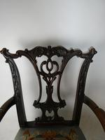 Carved Chippendale Revival Armchair (3 of 10)