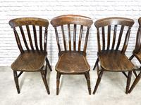 Matched Set of 6 Windsor Lathback Kitchen Chairs (5 of 7)