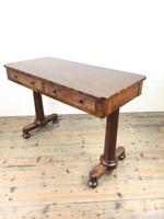 Victorian Mahogany Two Drawer Side or Console Table (16 of 17)