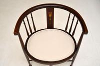 Antique Edwardian Mahogany Tub Chair (4 of 10)