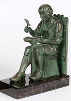 Max Le Verrier Pair Art Deco Patinated Bronze The Cobbler & The Financier Bookends (12 of 18)