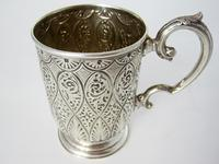 Victorian Silver Christening Mug with a Floral Scroll Handle (4 of 6)