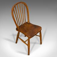 Antique Stick Back Chair, English, Elm, Beech, Station Seat, Victorian c.1870 (6 of 12)