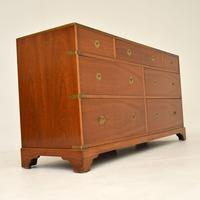 Antique Military Campaign Style Mahogany Chest / Sideboard (5 of 9)
