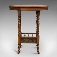 Antique Lamp Table, English, Walnut, Octagonal, Side, Games, Edwardian c.1910 (9 of 10)