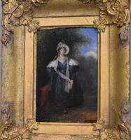 Late Regency Miniature Oil of a Lady (2 of 7)