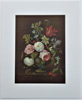 Vintage lithograph print after Bice Giachino, Still Life with Flowers, c1930, Stehli Freres
