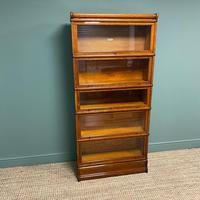 Tall Golden Oak Globe Wernicke Stacking Barristers Bookcase (6 of 7)