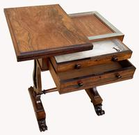 Lovely William IV Rosewood Card & Work Table (3 of 9)