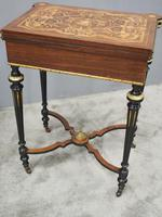 Louis XV Style French Marquetry Games / Side Table (15 of 15)