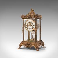 Antique Mantel Clock, French, Gilt Bronze, Ormolu, Brocot Escapement, Circa 1900 (9 of 12)