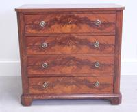 19th Century Continental Flame Mahogany Chest of Drawers (9 of 12)