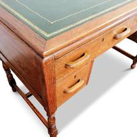Lovely Little Vintage Desk with Green Leather Top & Drawers c.1970 (4 of 8)