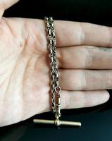 Antique 9ct Gold Watch Chain, Fancy Link, Albert Chain (8 of 9)