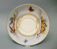Small Staffordshire Hand-Painted Plate c 1860
