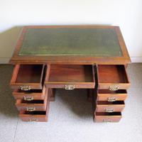 Oak Pedestal Desk - Edwardian (5 of 8)