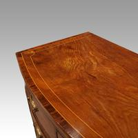 Regency Inlaid Bow Fronted Chest (10 of 10)
