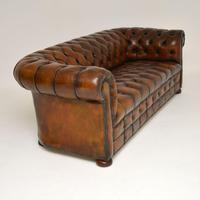 Antique Deep Buttoned Leather Chesterfield Sofa (5 of 9)
