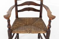 18th Century English Elm Ladder-Back Carver Chair (7 of 11)