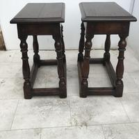 Pair of Oak Coffin Stools Circa Late 17th Century (16 of 24)