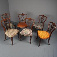 Set of 6 Mid Victorian Rosewood Dining Chairs (4 of 14)