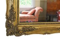Antique Large Quality 19th Century Gilt Wall Mirror Overmantle (7 of 10)
