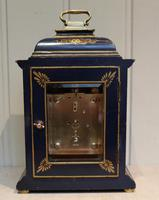 Small Blue Chinoiserie Bracket Clock (10 of 11)
