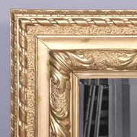 Victorian Carved Giltwood Rectangular Wall Mirror (3 of 6)
