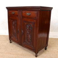 Dresser Base Walnut Edwardian Sideboard Cabinet (8 of 12)