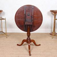 Tripod Lamp Table Mahogany 19th Century (4 of 8)