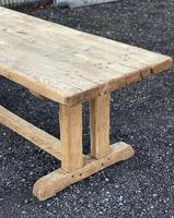Large French Rustic Bleached Oak Farmhouse Dining Table (24 of 36)