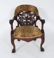 Mid-19th Century French Carved Walnut Desk Chair (3 of 12)