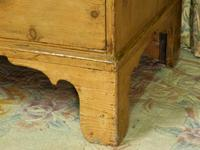 Regency Stripped Pine Chest of Drawers with Original Knobs (7 of 8)