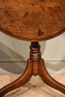 George III Oak Tilting Top Tripod Table (4 of 6)