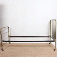 Brass Bed Frame Victorian 19th Century Single Bedframe Cast Iron (11 of 12)