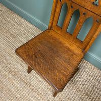 Quality Pair of Oak Hall Chairs by Shoolbred (4 of 7)