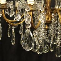Italian 15 Light Gilded Bronze Antique Chandelier (5 of 10)
