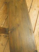 Antique Elm & Pine Sunday School Bench, Rustic Hall Seat (14 of 14)