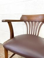 Early 20th Century Antique Oak Desk Chair (4 of 9)
