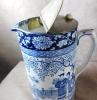 """Booth's """"Ming Pattern"""" Silicon China Lidded Jug (5 of 5)"""