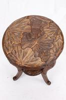 Small Antique Liberty & Co Carved Japanese Coffee Table (4 of 13)