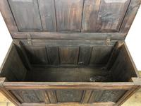 18th Century Carved Oak Coffer (8 of 10)