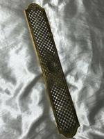 19th Century Antique Regency Gilt Bronze Coat of Arms Sunflower Acanthus Plaque (5 of 12)